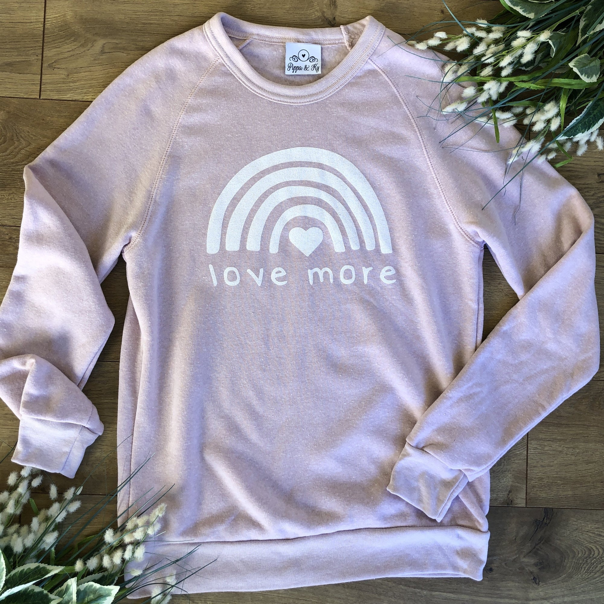 Love More Rose Sweatshirt - Sweatshirt