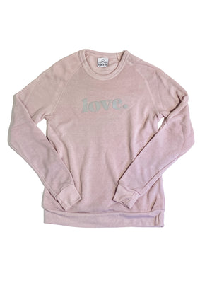 Love Pullover Sweatshirt Light Pink