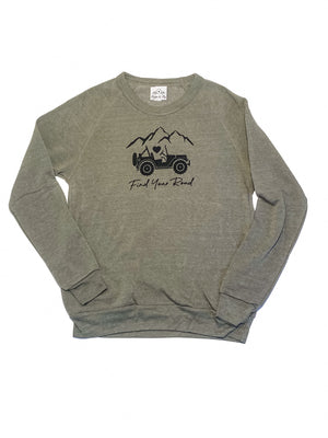 Find Your Road Olive Sweatshirt
