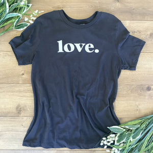 Loungewear T-Shirt Love Charcoal