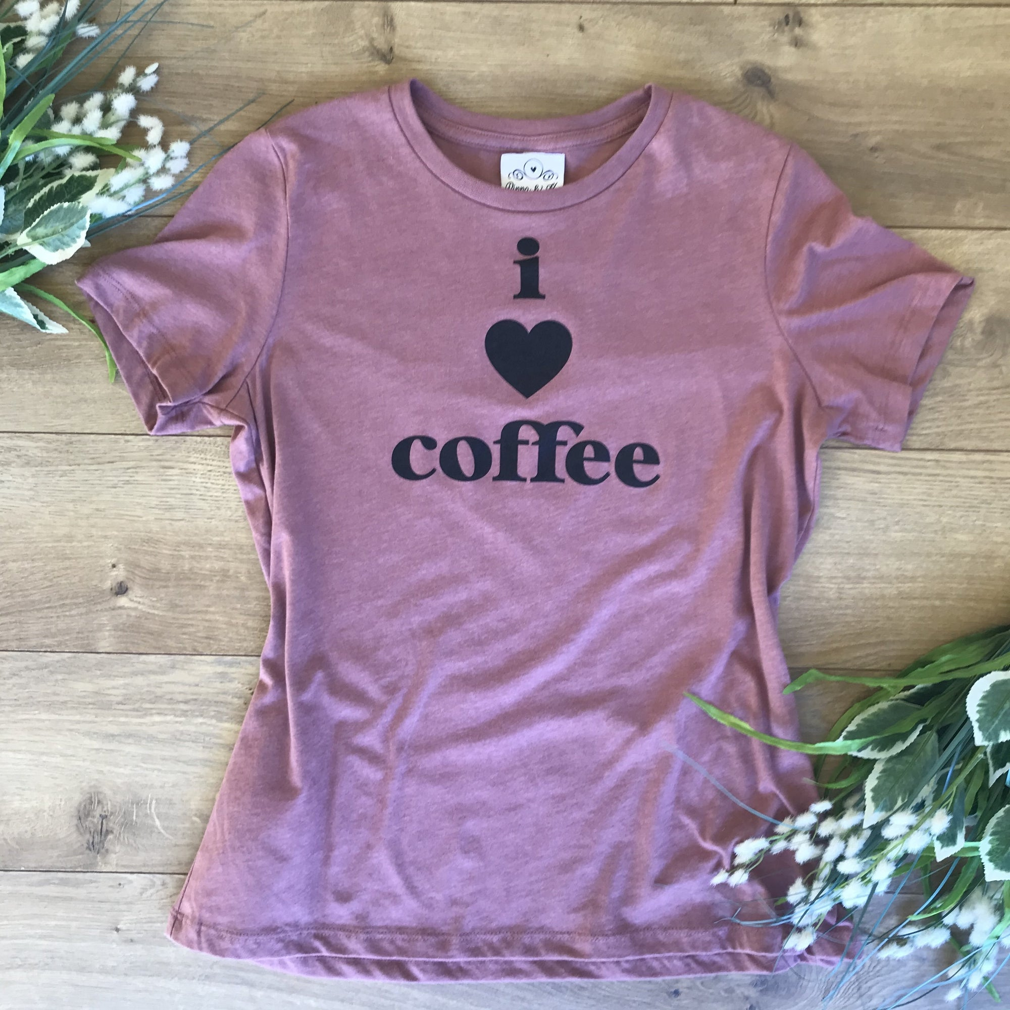 I Love Coffee Mauve lounge T-Shirt - T-Shirt