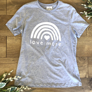 Loungewear T-Shirt Love More Dusty Blue