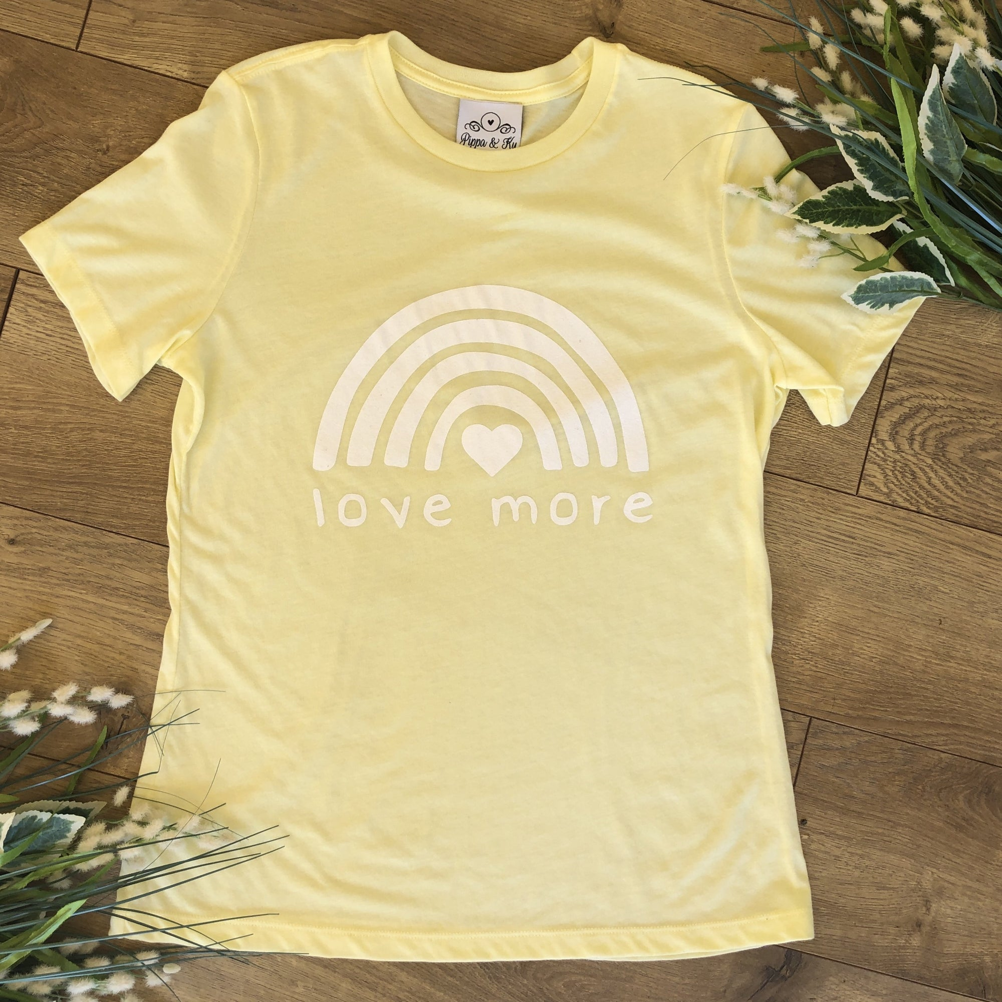 Love More Yellow Lounge T-Shirt - T-Shirt