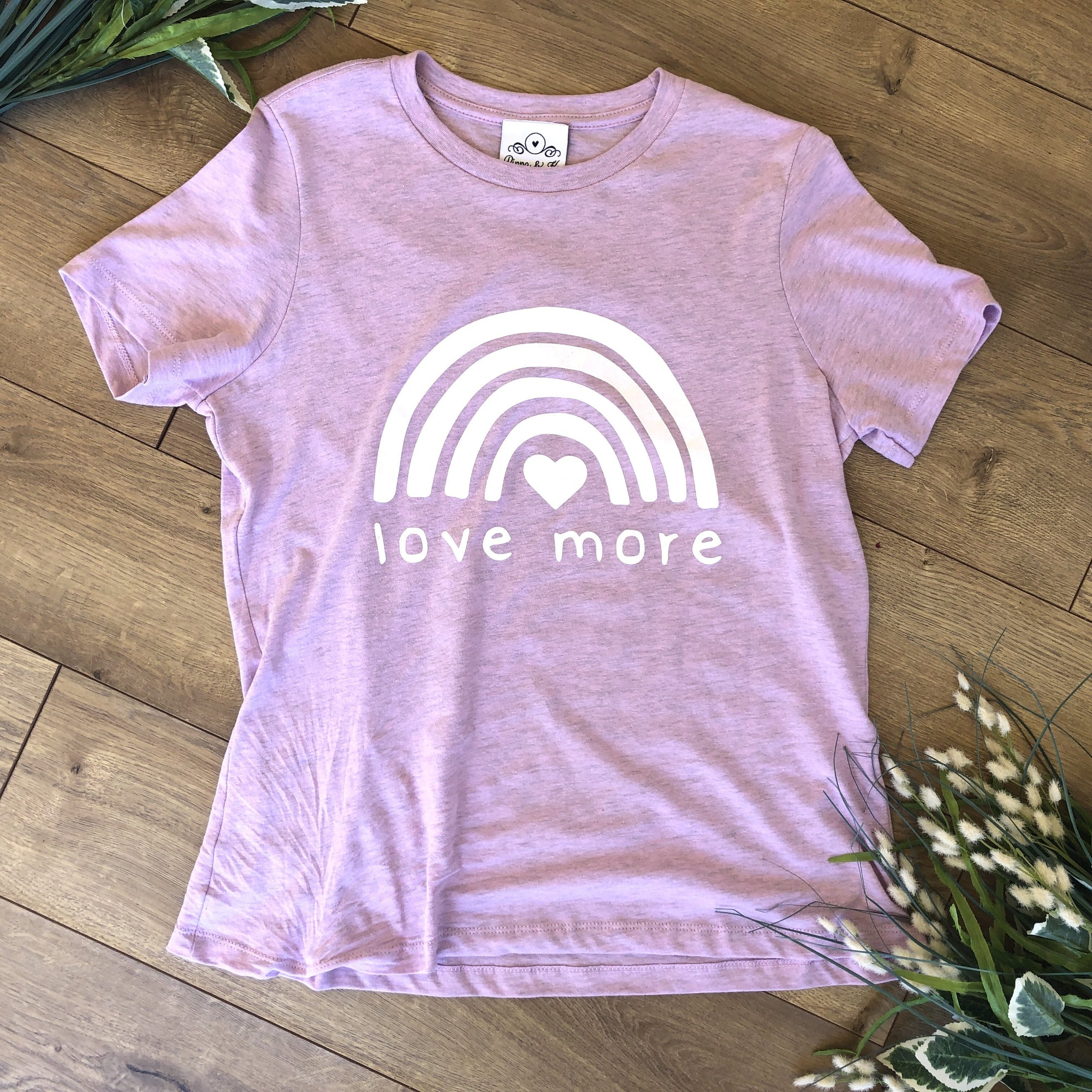 Love More Heather Lilac T-Shirt - T-Shirt