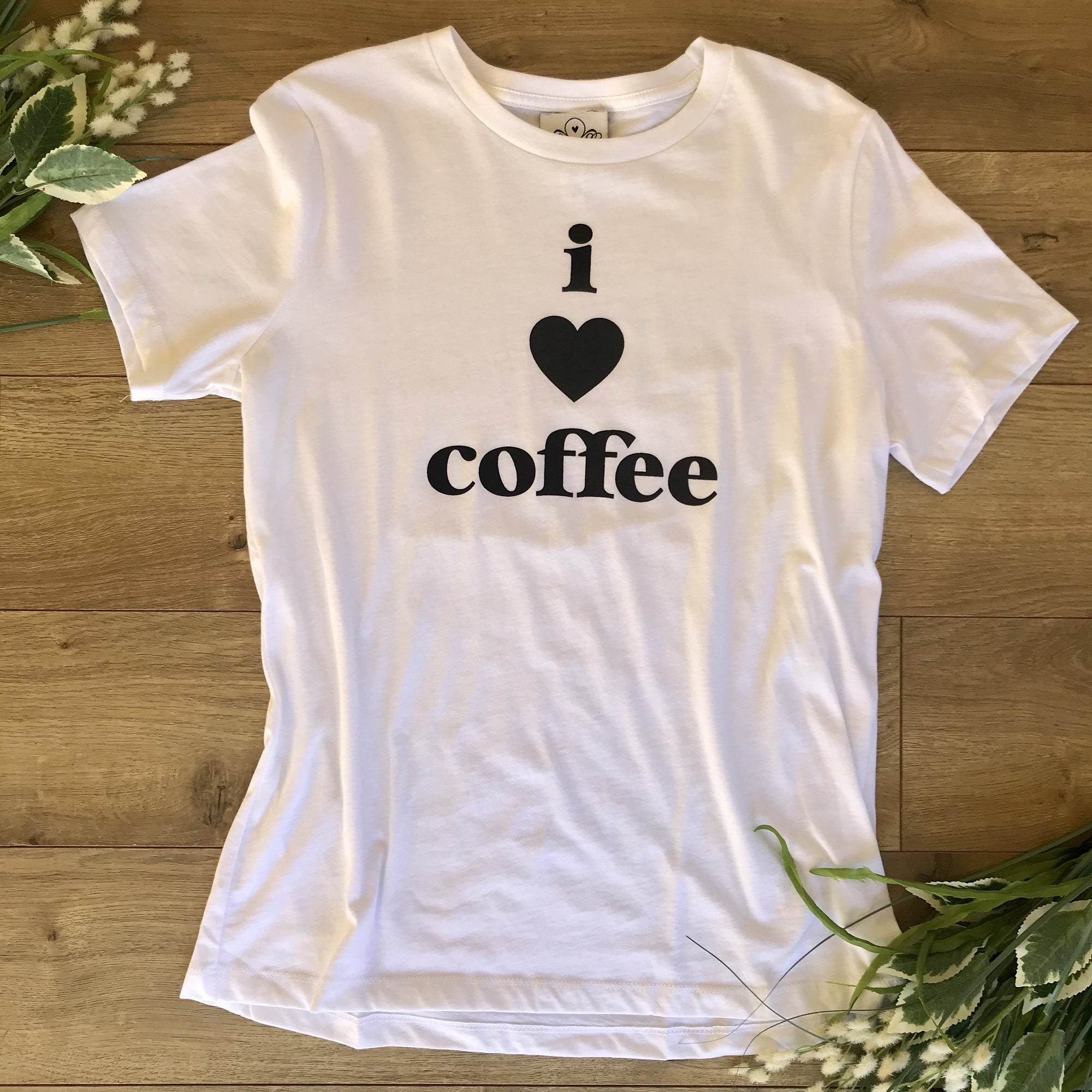 Lounge T-Shirt I Love Coffee White