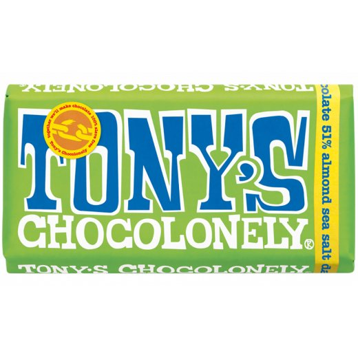 Dark Almond and Sea Salt Tony's Chocolonely 180g