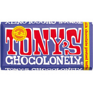 Dark Milk Pretzel Toffee Tony's Chocolonely 180g