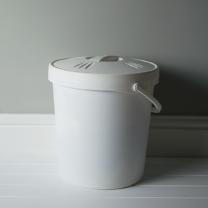 Nappy Bucket with lid and handle.