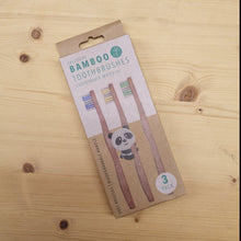 Load image into Gallery viewer, Junior Bamboo Toothbrush - Single/3pk