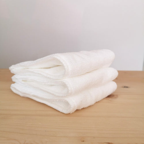 Stack of three Alva Baby microfiber inserts