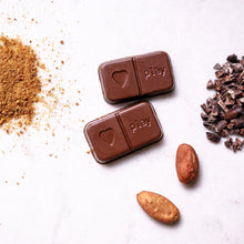 Load image into Gallery viewer, PLAYin Choc 3 PiECES Organic Peruvian Cacao M•lk Chocolate