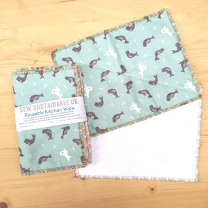Sew Sustainable Reusable Kitchen Wipes 5pk