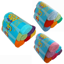 Load image into Gallery viewer, Bright Bots Cotton Terry Towels 6pk - Various Colours