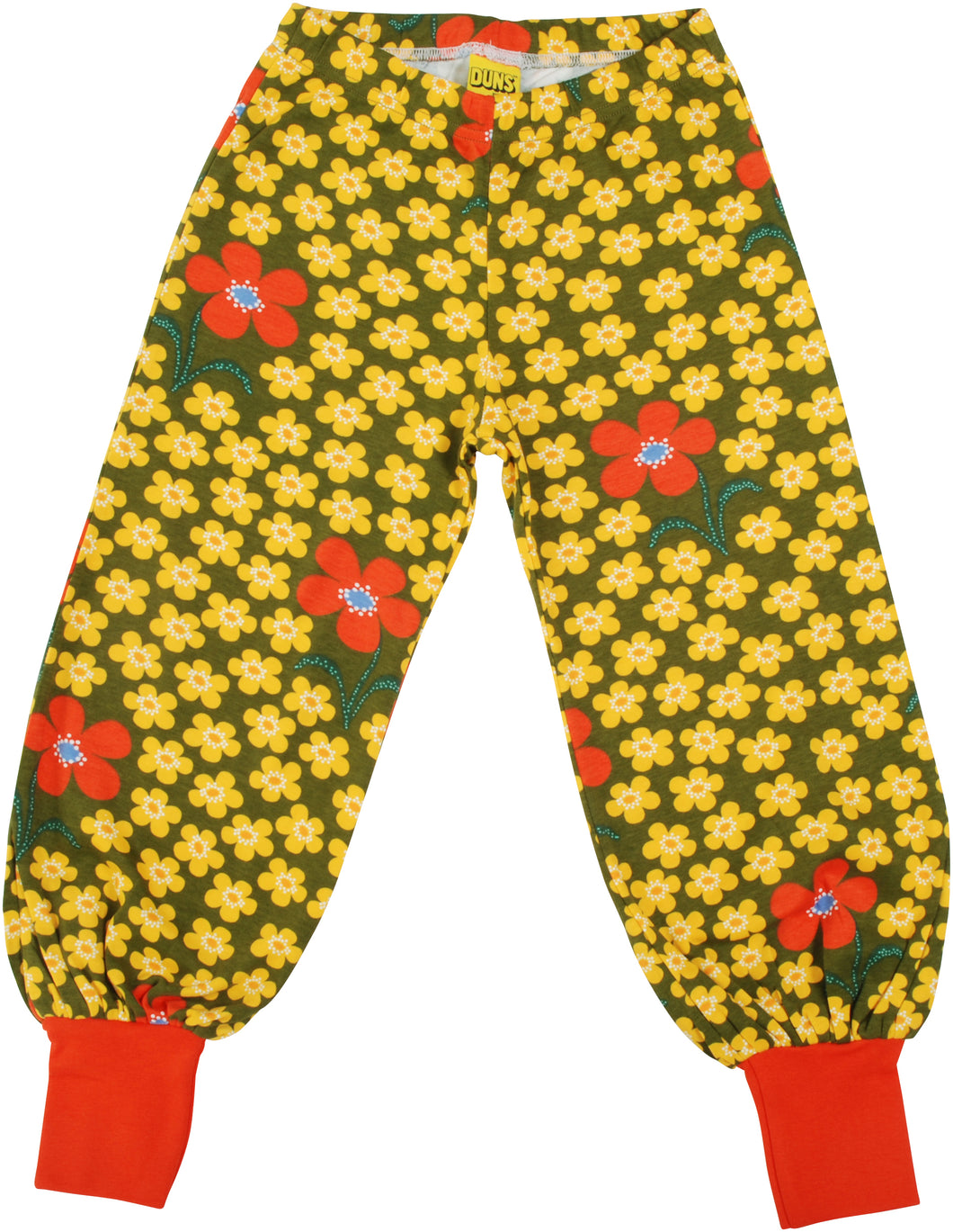 DUNS Olive Flower Baggy Pants