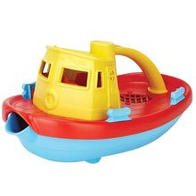 Load image into Gallery viewer, Green Toys Tugboat - Yellow Handle