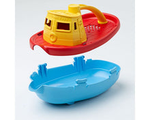 Load image into Gallery viewer, Green Toys Tugboat - Red Handle