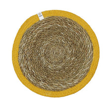 Load image into Gallery viewer, ReSpiin Natural Seagrass & Jute Tablemat