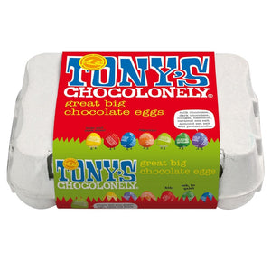 Tony's Chocolonely Assorted Chocolate Eggs 150g