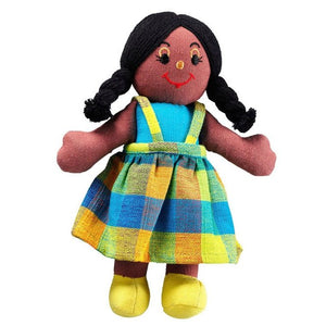 Lanka Kade Girl Doll - Black Skin Black Hair