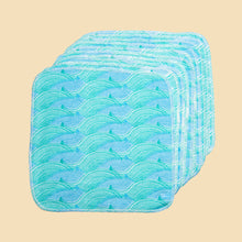 Load image into Gallery viewer, Cheeky Wipes City to Sea Cotton Flannel Wipes