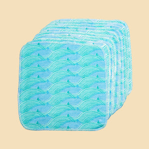 Cheeky Wipes City to Sea Cotton Flannel Wipes