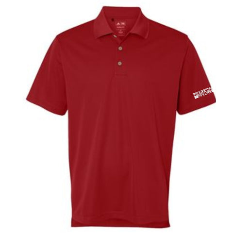 Men's Red Adidas Climalite Polo