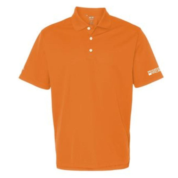Men's Orange Adidas Climalite Polo