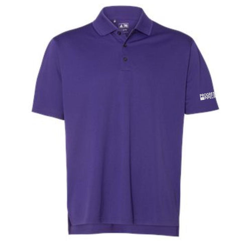Men's Purple Adidas Climalite Polo (COLLEGIATE)