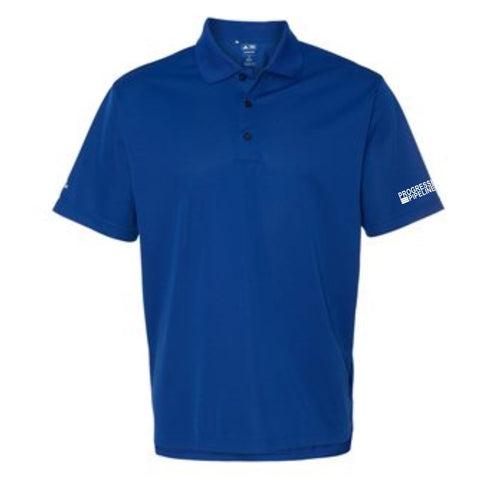 Men's Royal Adidas Climalite Polo (COLLEGIATE)