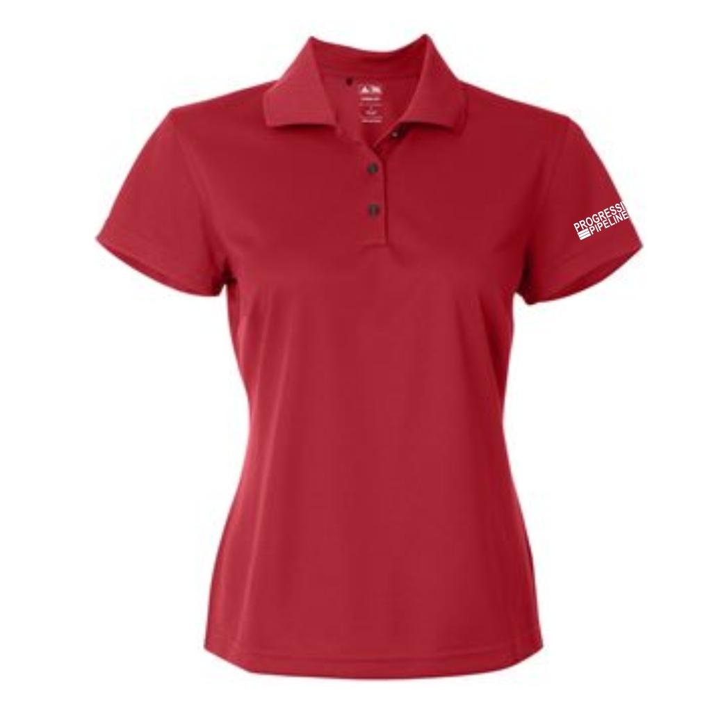 Women's Red Adidas Climalite Polo
