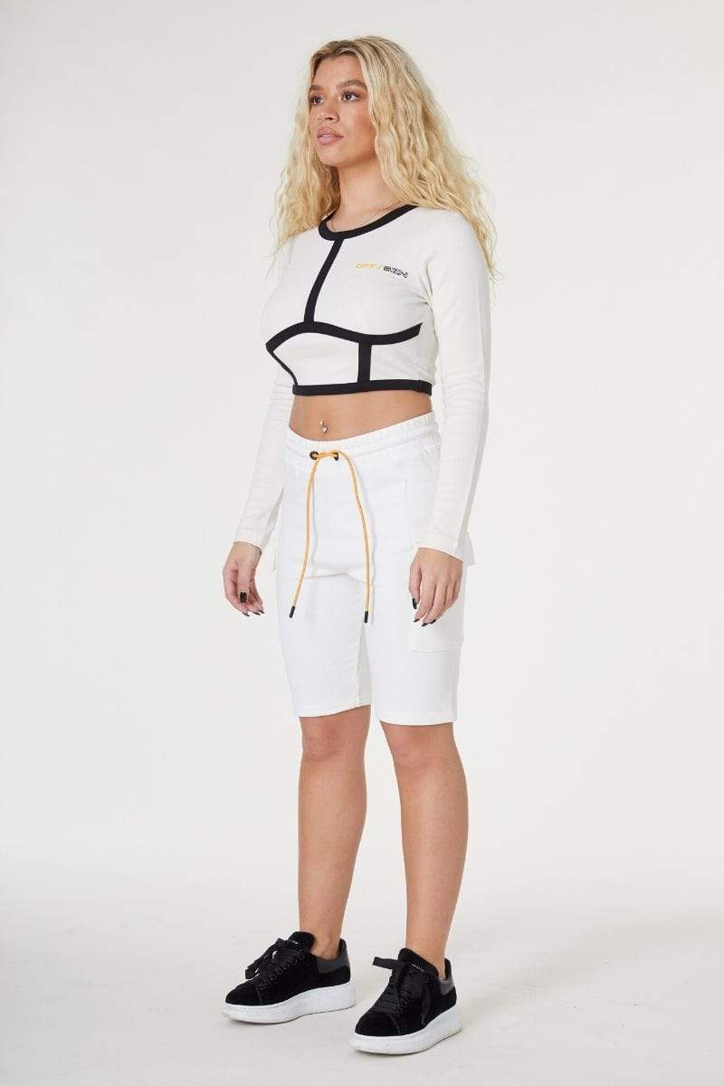 SPORTS CYCLE SHORT- WHITE