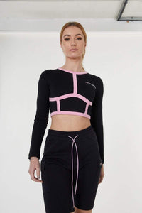 SPORTS CROP TOP - BLACK