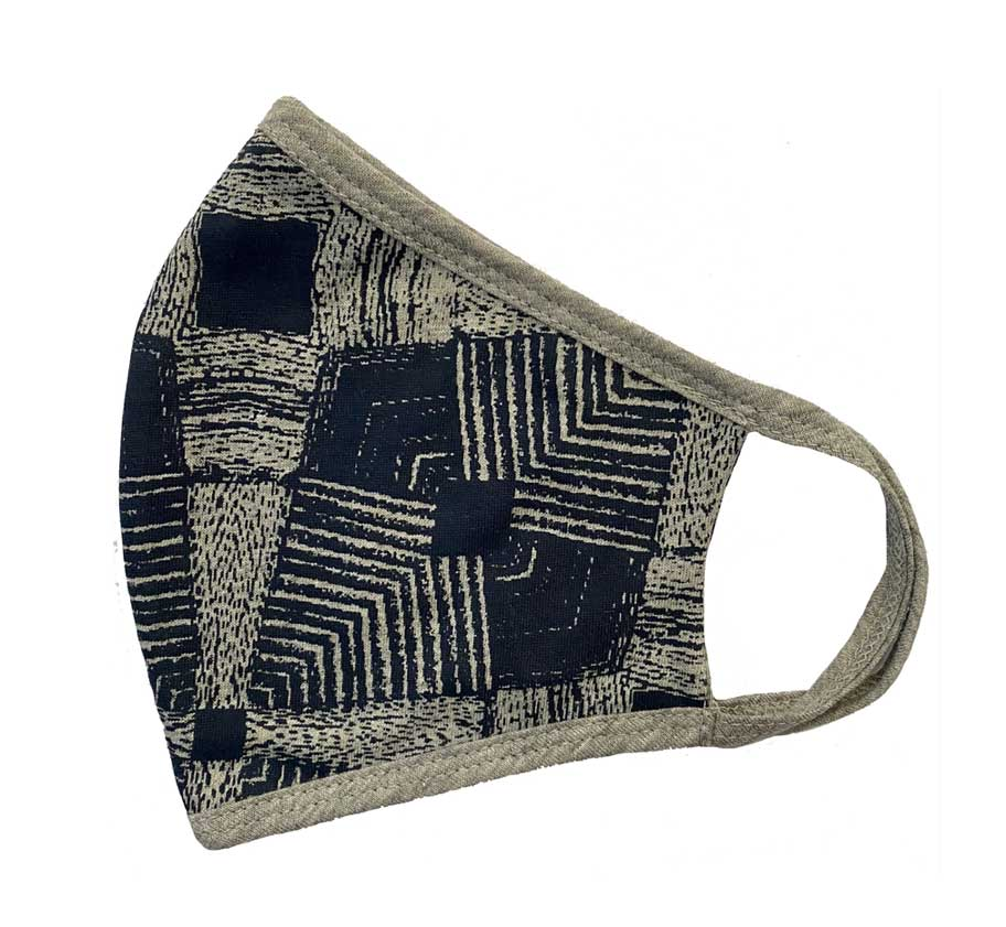 Face Mask, Woman's - Mens, Tribal - Navy