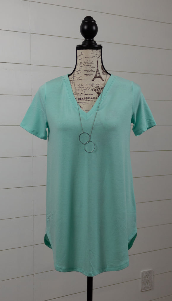 Girlfriend Tunic Tee- Aquamarine