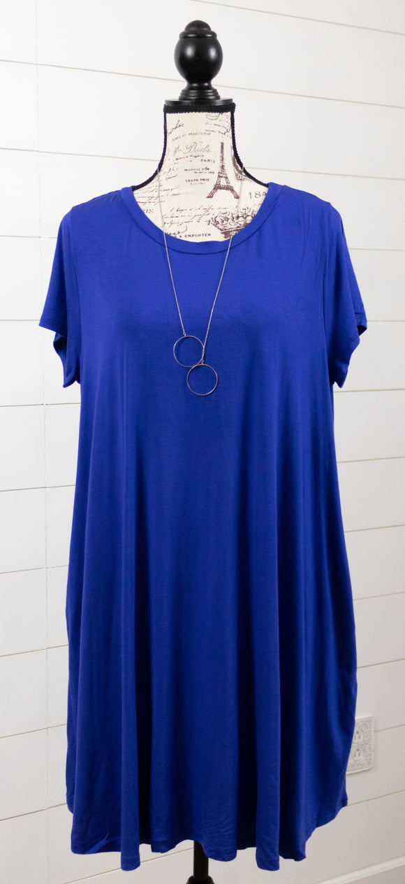Classic Tee Pocket Dress- Curvy