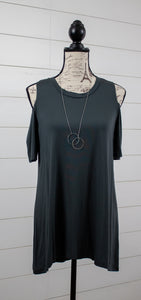 Take It Easy Cold Shoulder Tunic
