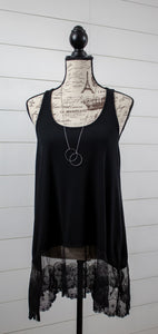 Leather and Lace Tank