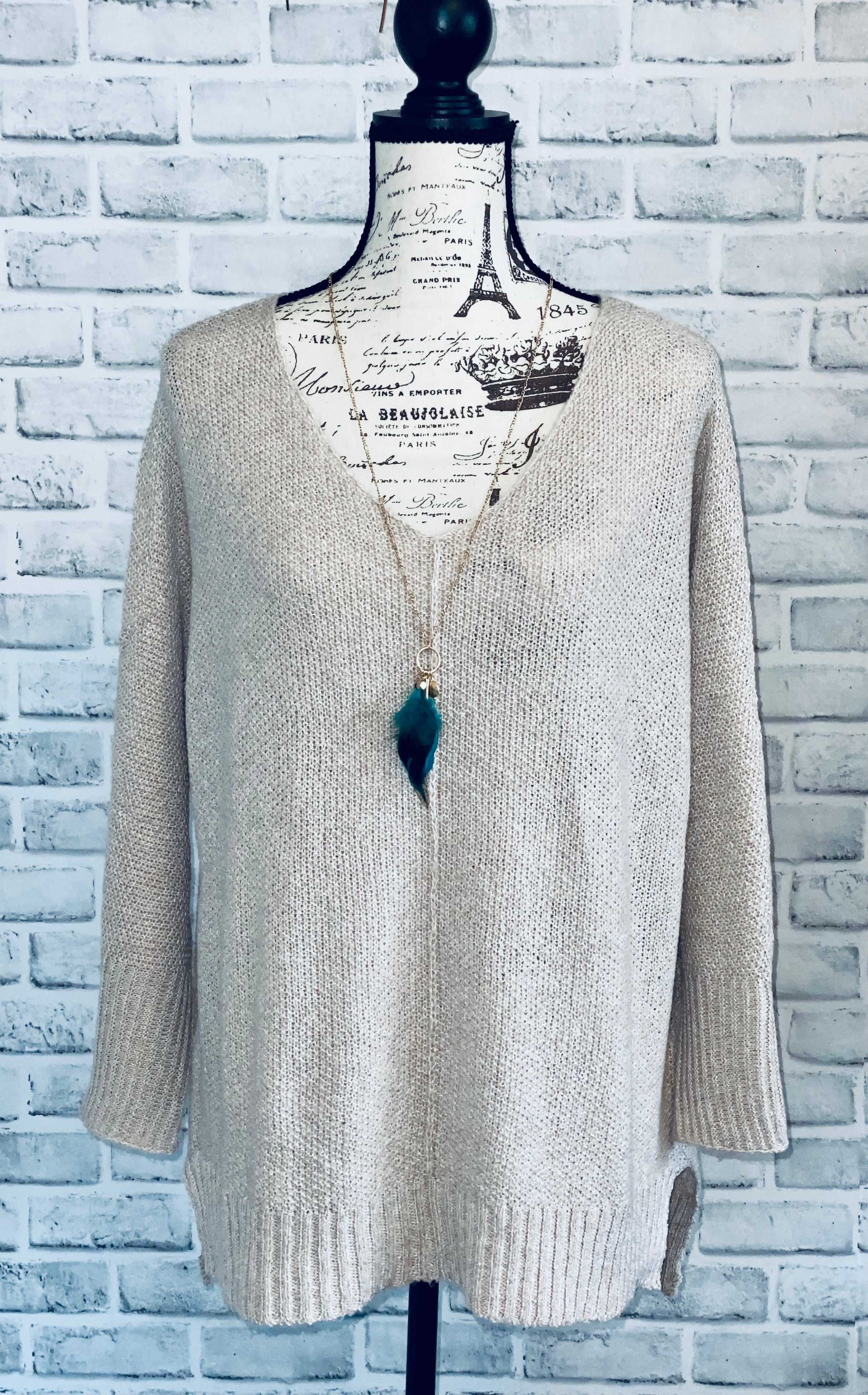 Rustic Taupe Sweater