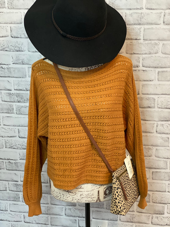 Penny Lane Sweater- Ginger