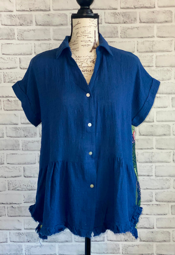 Tangled Up In Blue Printed Tunic