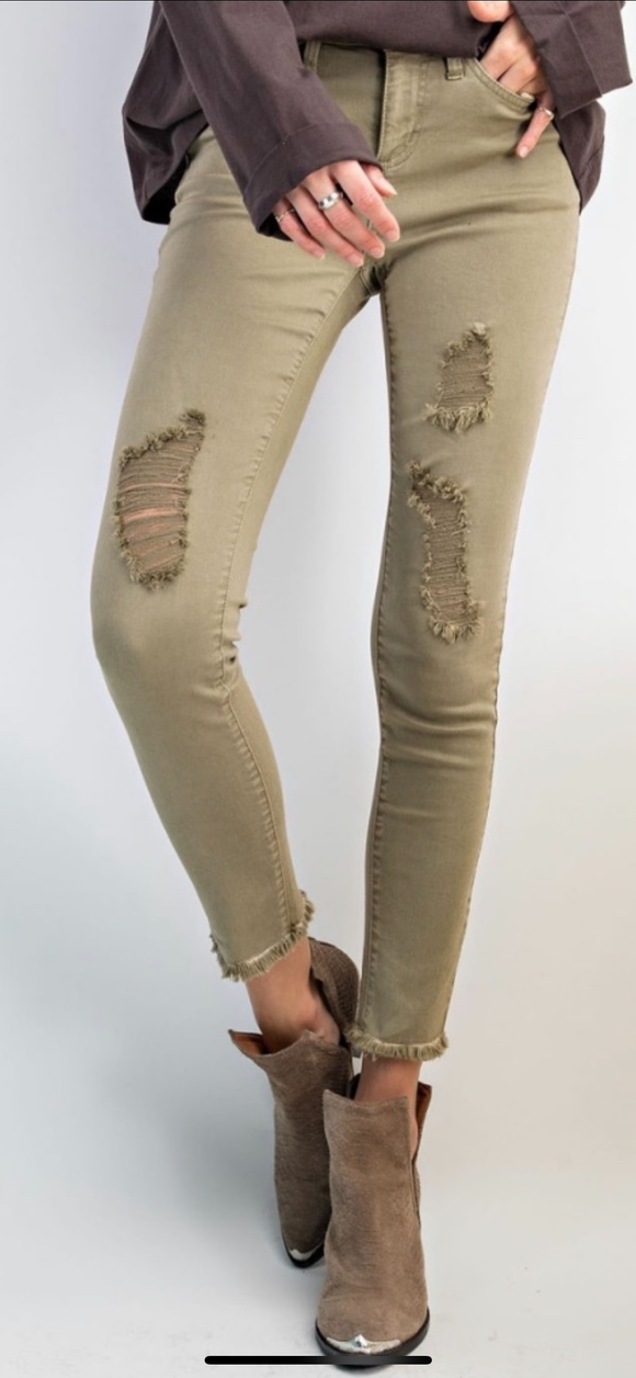 Faded Love Distressesd Pant