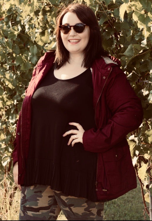 Stone Cold Cozy Jacket- Curvy