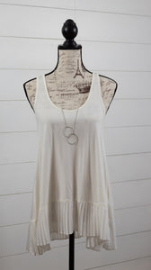 Lovely Day Pleated Tank- Regular + Plus