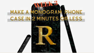 Weekly Inspiration 3 - Make a Monogram Case