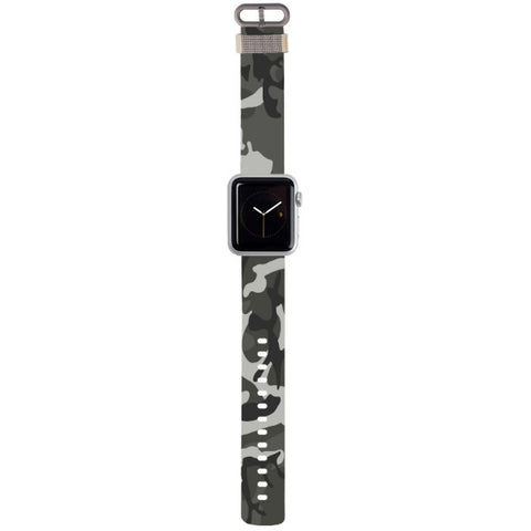 WATCH STRAP - CAMO - grey for apple watch 38 mm in Nylon