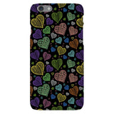 Colorful-hearts-black-phone-case-IPhone Blast Case LITE For iPhone 6S