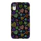 Colorful-hearts-black-phone-case-IPhone Blast Case LITE For iPhone XR