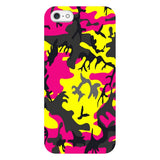 Camo-Pink-Yellow-phone-case-IPhone Blast Case LITE For iPhone SE