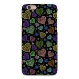 Colorful-hearts-black-phone-case-IPhone Blast Case LITE For iPhone 6