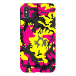 Camo-Pink-Yellow-phone-case-IPhone Blast Case PRO For iPhone XS Max